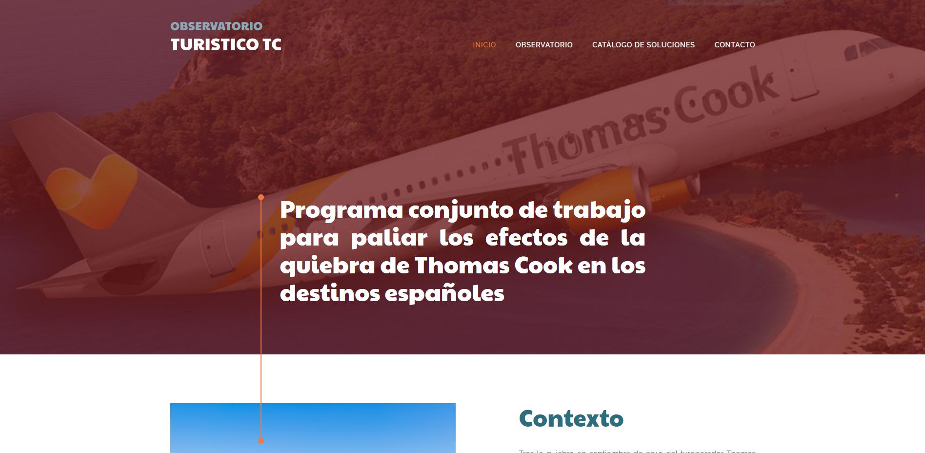 Captura Web Observatorio Turistico TC
