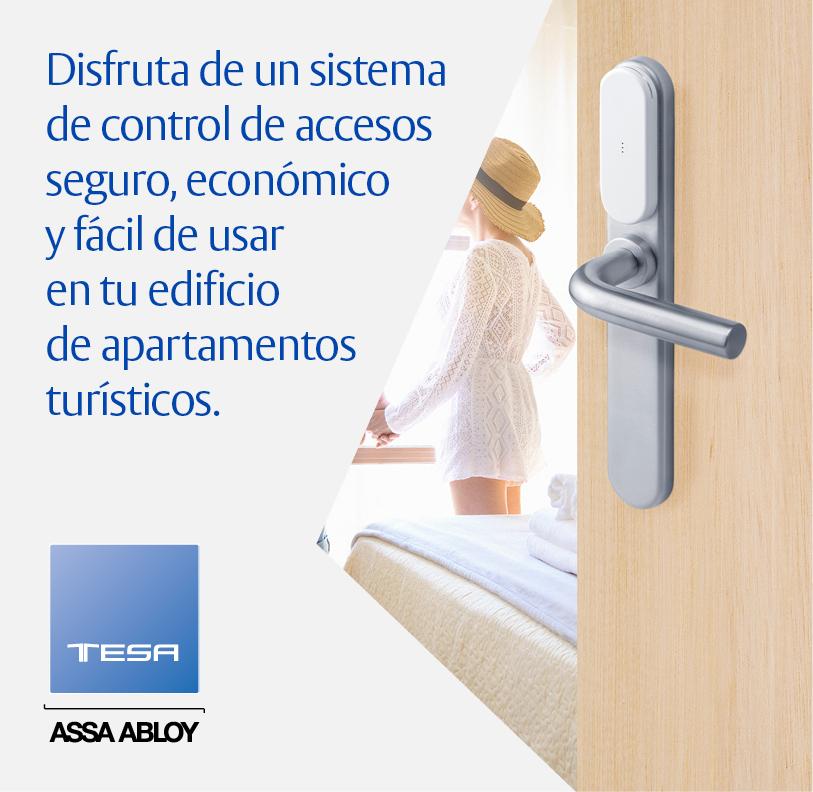 Un sistema de control de accesos seguro, económico y fácil de usar en tu edificio de apartamentos turísticos